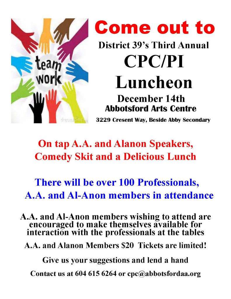 District 39's Third Annual CPC/PI Luncheon